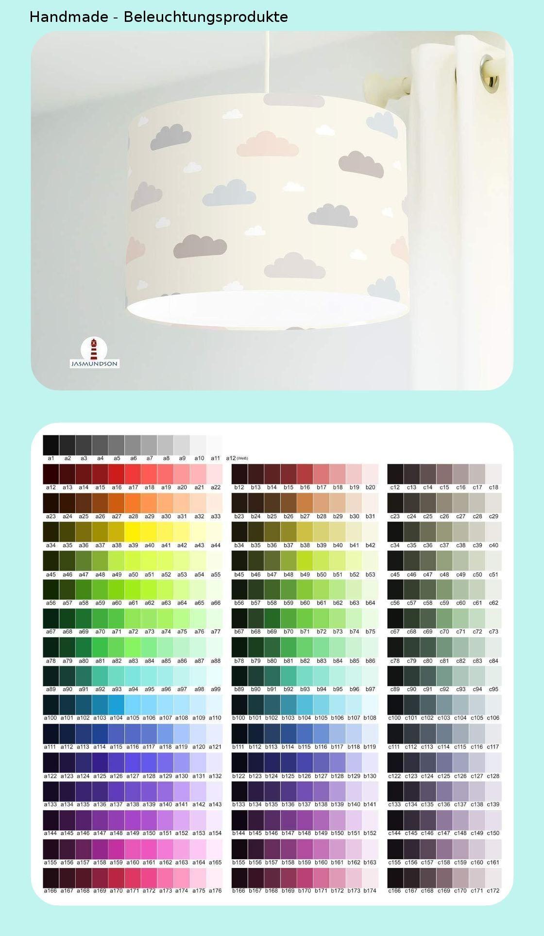 Lampe Kinderzimmer M/ädchen Prinzessin Krone Altrosa aus Baumwollstoff alle Farben m/öglich