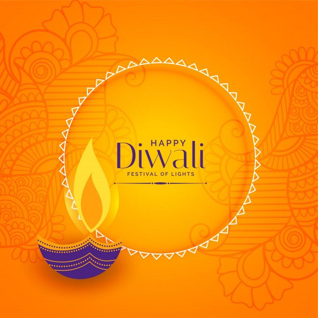 Download Happy Diwali Decorative Background for free