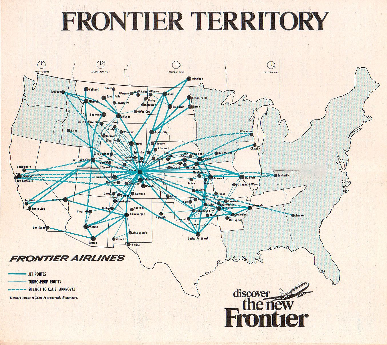 More Old Airline Route Maps Maps International