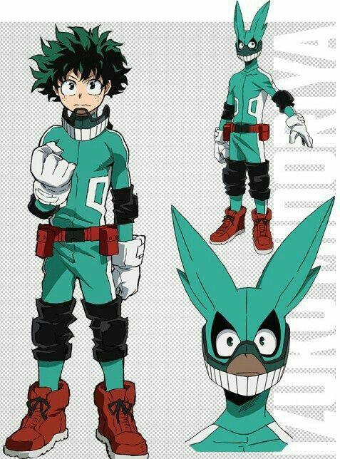 Midoriya u0026quot;Dekuu0026quot; Izuku hero uniform outfit suit cool; My Hero Academia   My Hero Academia ...