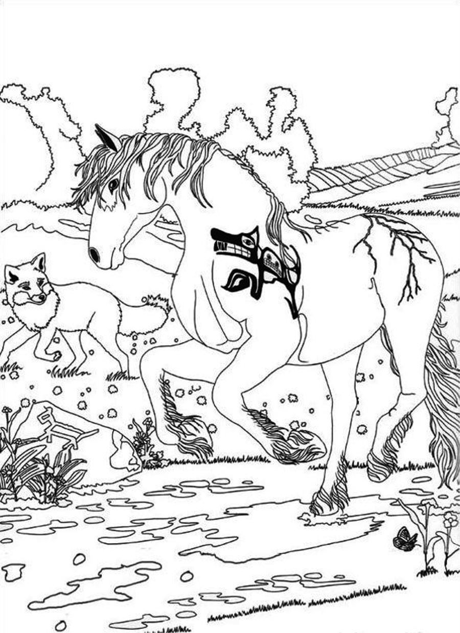Free printable coloring pages environment - Bella Sara The Magical Horse Free Printable Coloring Pages No 2