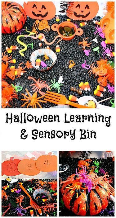 Halloween themed sensory learning bin | PLAY Activities for Kids ...