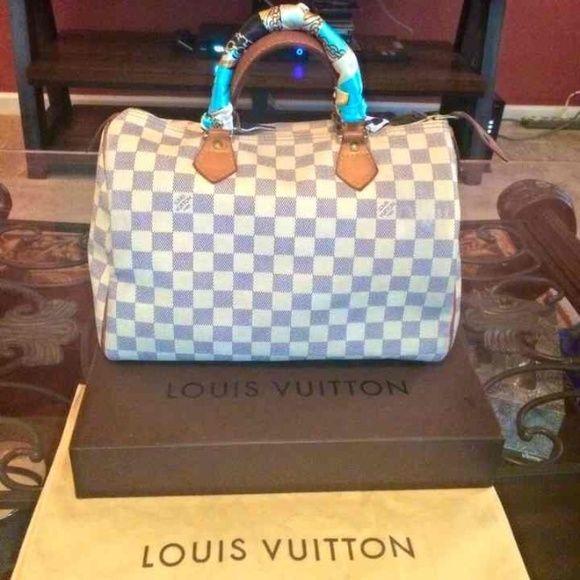 Purses · Handbags · Louis Vuitton damier azur 30 Pre-loved LV damier azur speedy  30. There is 8efba905dee0e