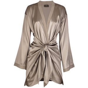 La Perla Satin silk-blend robe