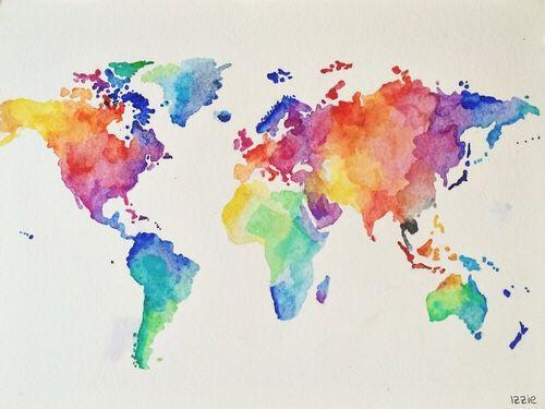 Pin by Simona Práznovská on DIY Pinterest Exploding boxes - copy rainbow world map canvas