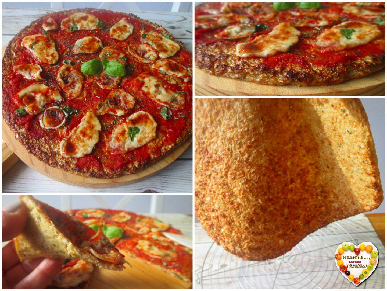 pizza dimagrante al cavolfiore