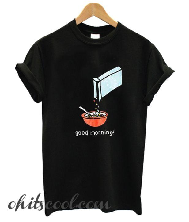 Cereal Killer V-Neck T-Shirt Funny Breakfast Morning Meal Serial Killer Tee