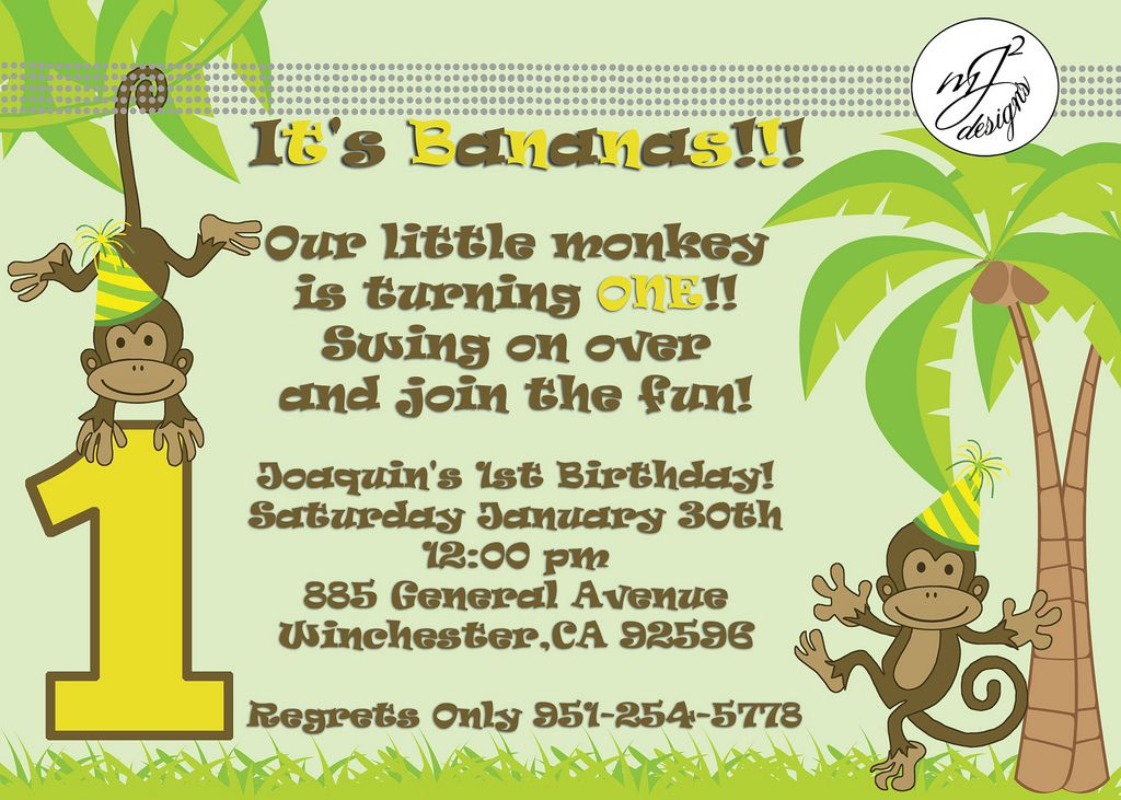 Planning a monkey themed party monkey themed 1st birthday planning a monkey themed party monkey themed 1st birthday invitations filmwisefo Image collections
