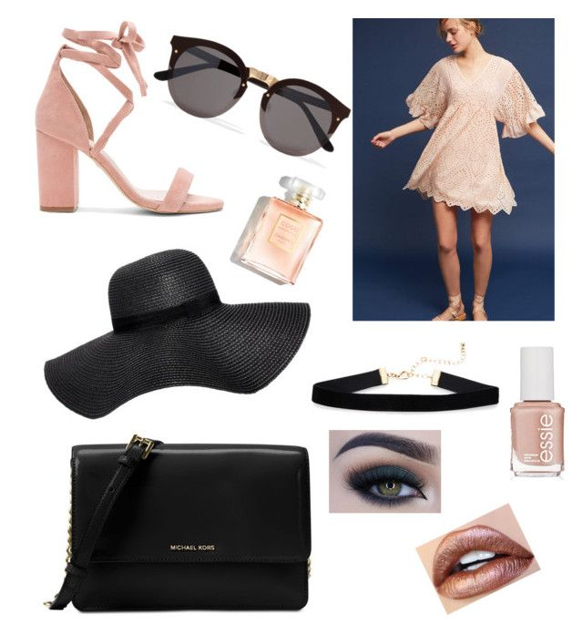 """""""""""Eyelet"""" You Win😉"""" by maddo123 ❤ liked on Polyvore featuring Akemi + Kin, Raye, Illesteva, Boohoo, Michael Kors, Too Faced Cosmetics and Essie"""