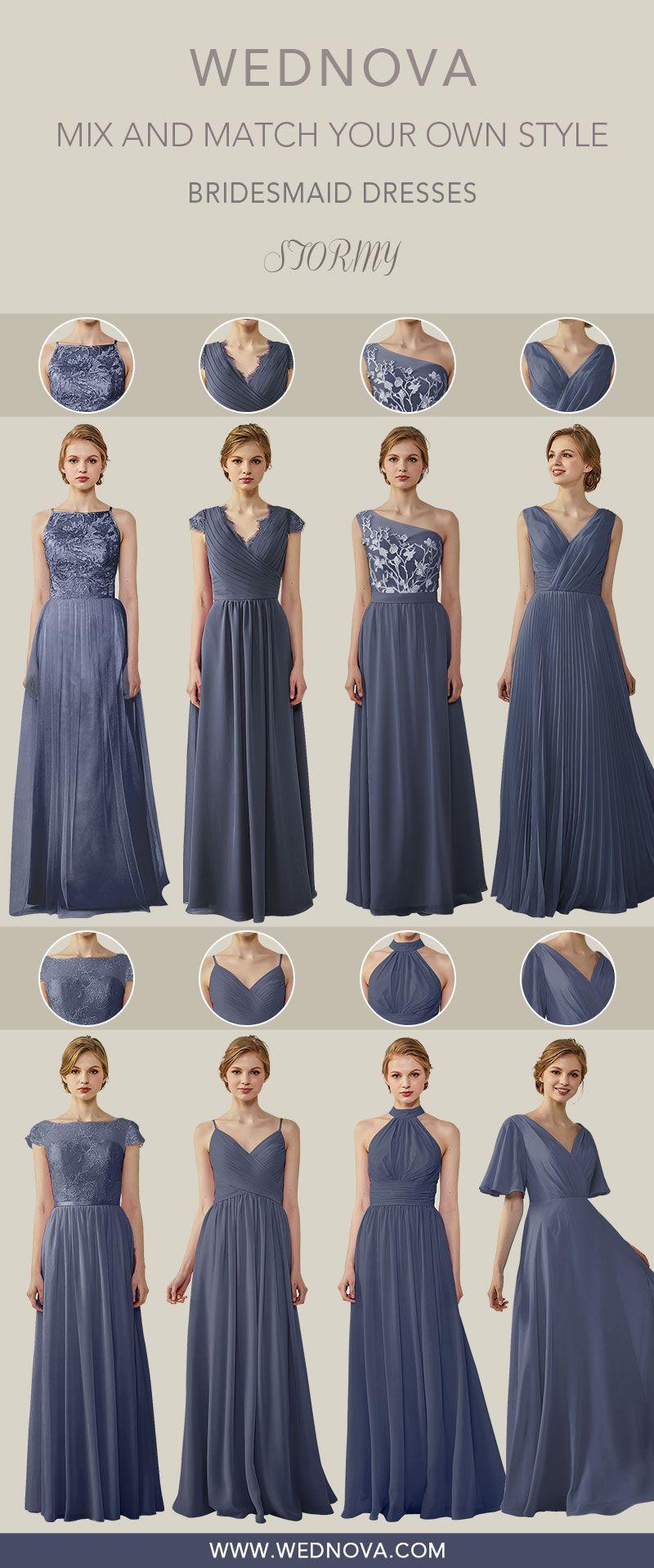 Beautiful Neckline Design Bridesmaid Dresses Stormy Chiffon Dress A Line For All Size On Sale Weddingdress Long Dresses Long Dresses Formal Elegant Brid [ 1918 x 800 Pixel ]