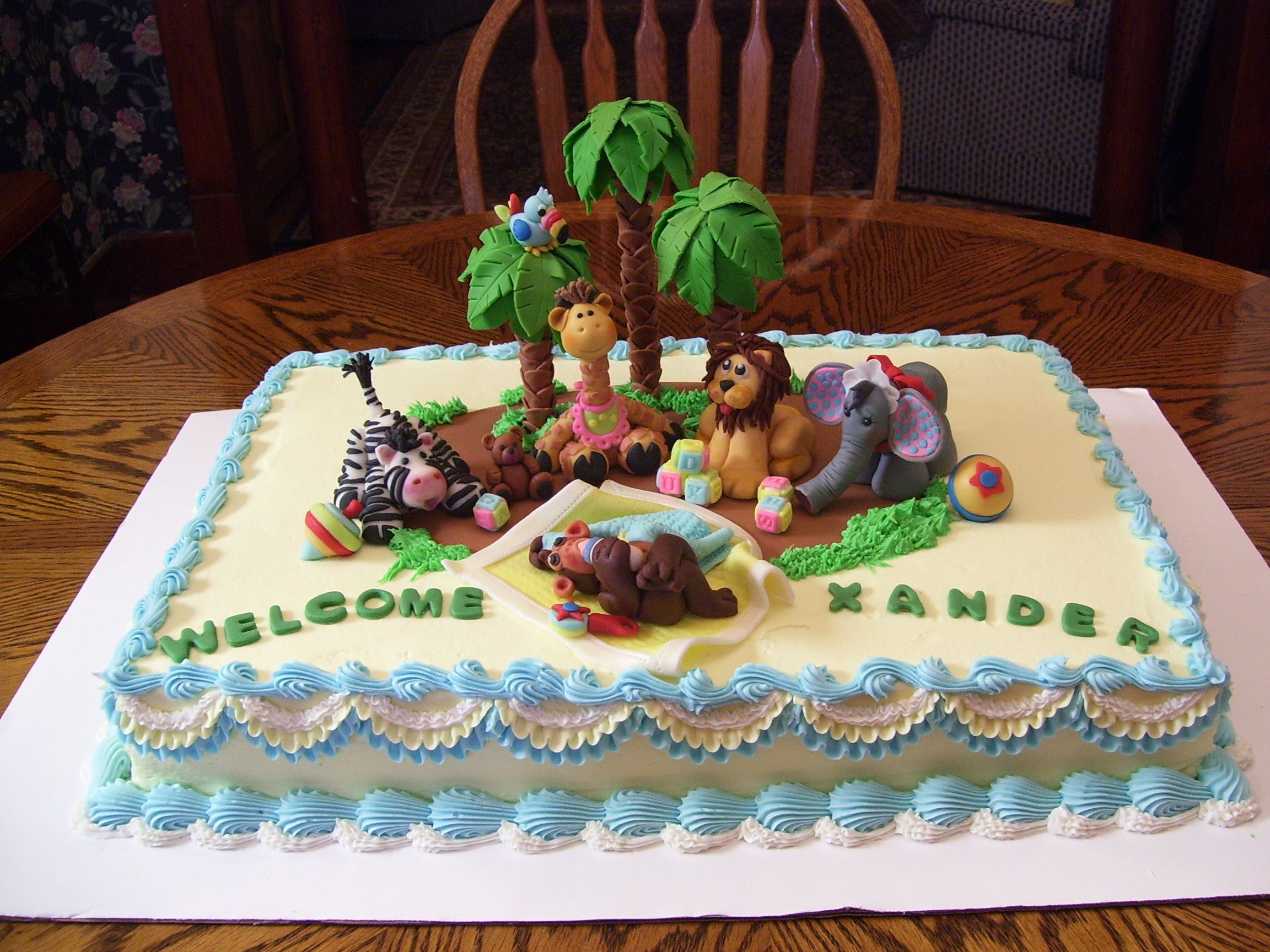 safari cake decorations for baby shower