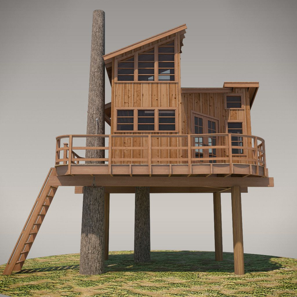 No 13 nooksack treehouse nelson f c and tree houses for Diy treehouse plans