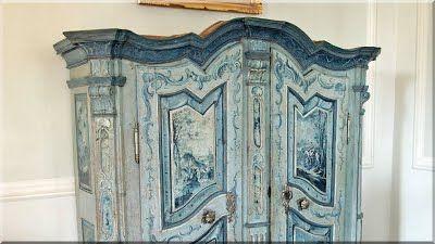 Antik szekrény, barokk bútor