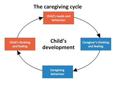 the caregiving cycle for secure attachment excellent article Continuum of Attachment Cycle Diagram