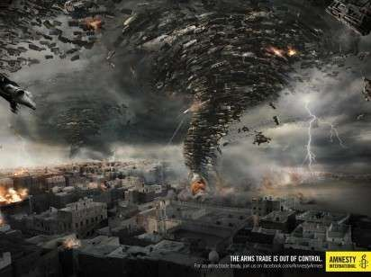 Militarized Natural Disaster Ads Amnesty International Background Images Graphic Design Ads