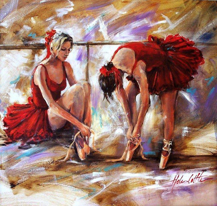 Helen cottle ballet painting zebra art art