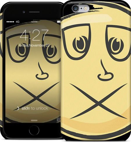 Creepy Emoji iPhone 6 Case #iPhone #case #hardcase #iPhone6 #cartoon #cool #toon #funky #awesome #vectortoons #vector #clipart #stock