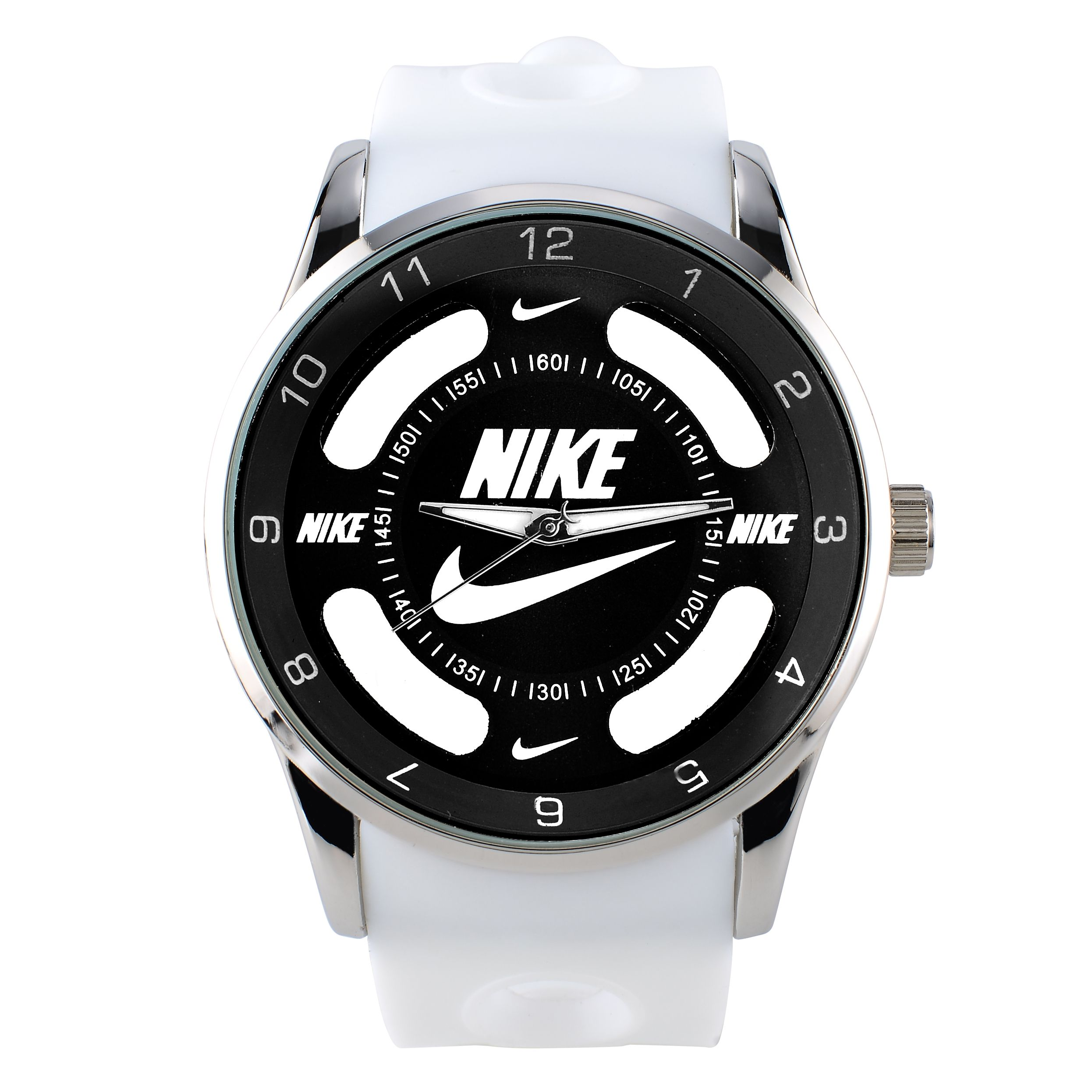 014752dee9374f luxury nike men sports brand name Brands watches black and silver case  fashion casual wristwatches men women dress quartz watches Hollow watch