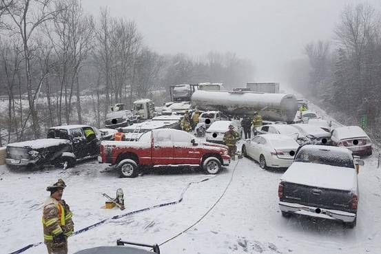 Snowstorms Cause Pileups, Power Outages Along the East Coast