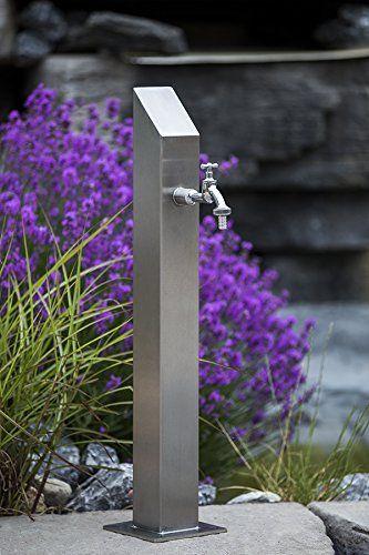Wassersaule Sq S 730mm Zapfsaule Bewasserung Gartenschlauch Spender Zapfstelle Zapfsaule Backyard Garden Design Backyard Landscaping Designs Modern Landscaping