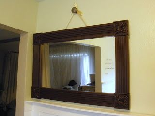 Hanging Framed Bathroom Mirrors use tutorial to frame bathroom mirror or mirror for wall hanging