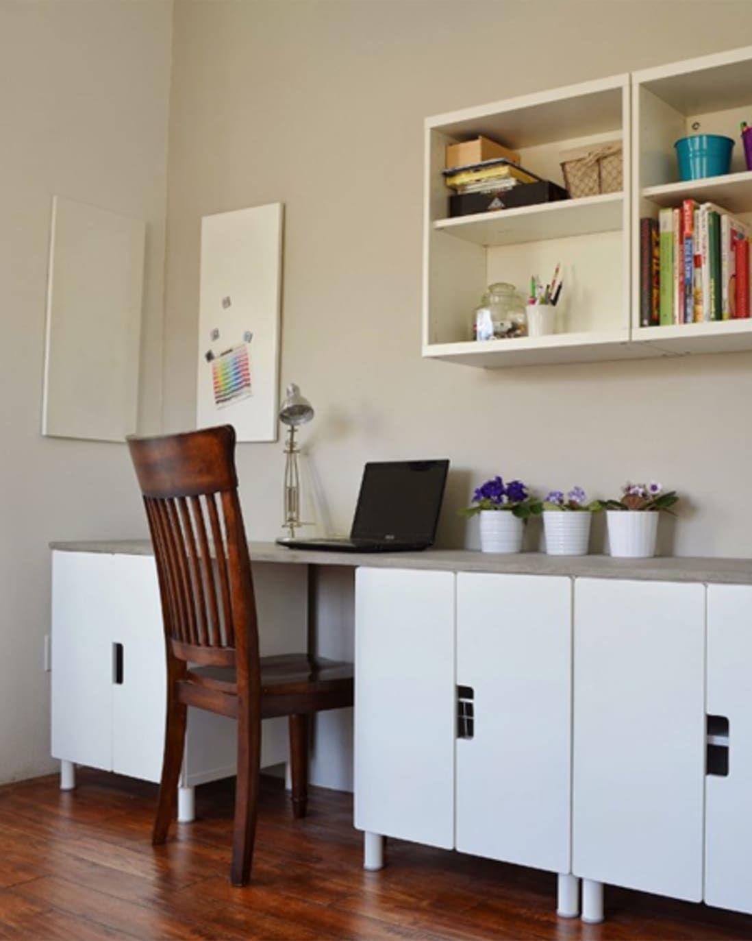 Before & After IKEA STUVA BuiltIn Desk