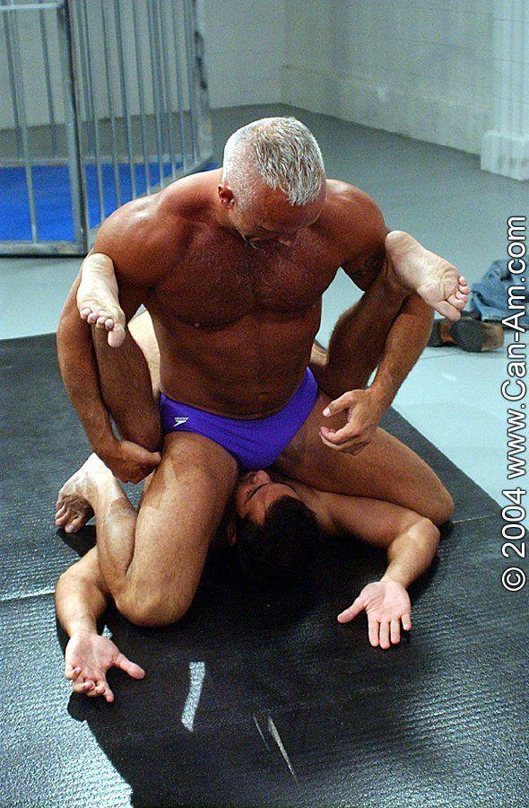 Mature gay men wrestling