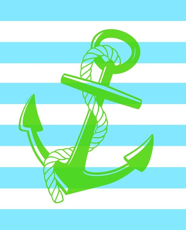 Free Anchor Printables is part of Anchor, Anchor rope, Nautical looks, Nautical, Printables, Rope bracelet - 6 different designs of free anchor printables with beautiful coastal blues, grays, and greens  These 'from sea to shining sea' pritables are such an easy way to decorate for summer including Memorial Day and the Fourth of July