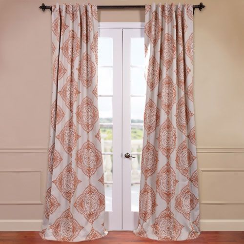 Henna Orange 50 X 108 Inch Blackout Curtain Half Price Drapes Drapery Sets Window