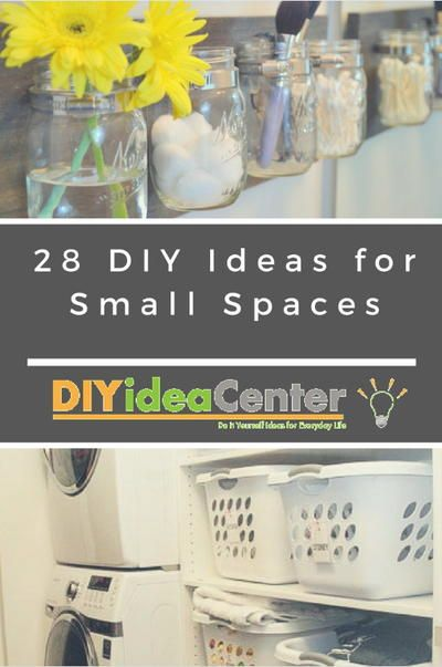 Small Space Projects: 28 DIY Ideas for Small Spaces | Bedroom ...
