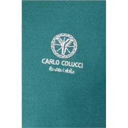 Photo of Unifarbenes Poloshirt, Grün Carlo ColucciCarlo Colucci