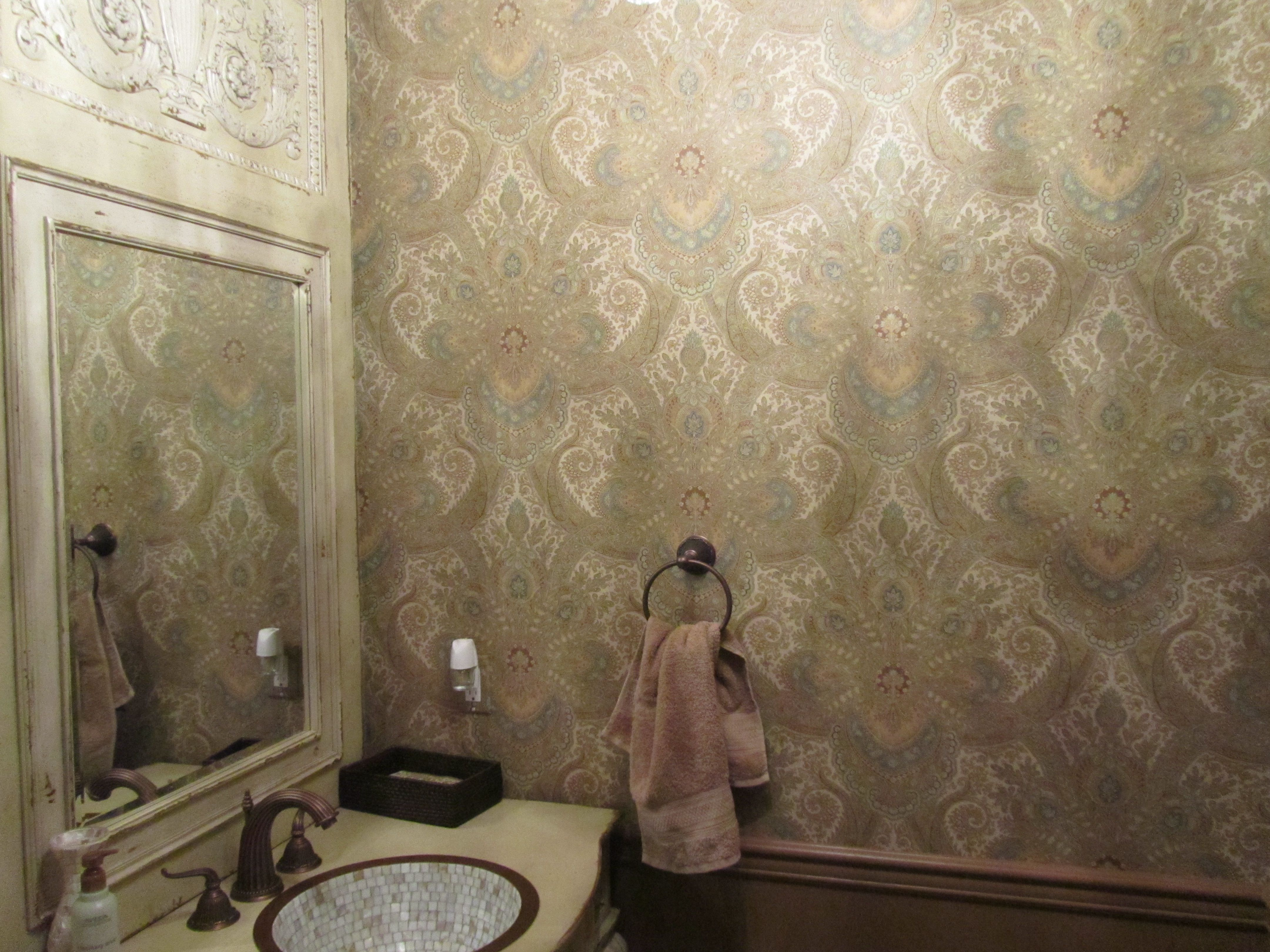 Sophisticated Bathroom Wallpaper In Franklin Lakes Nj Sophisticated Bathroom How To Install Wallpaper County House