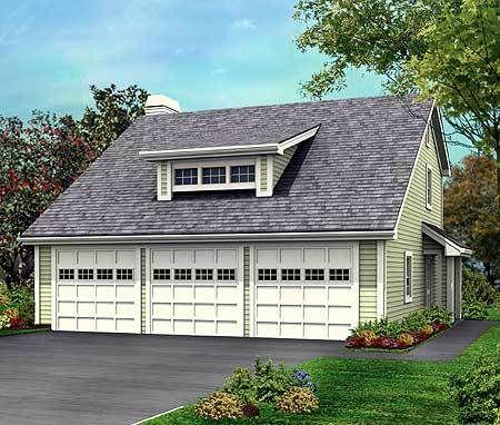 Plan 57114ha Three Car Garage With Rear Apartment River House