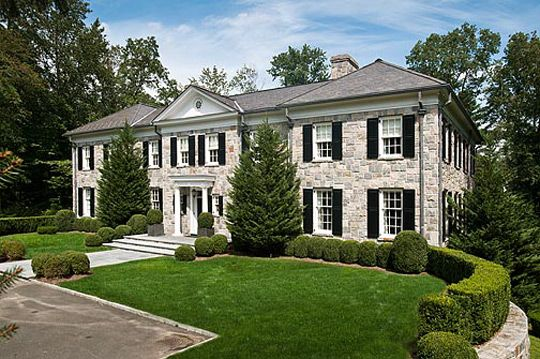 Georgian Colonial Mansion 11,000 square foot georgian colonial in greenwich, ct | celebrity
