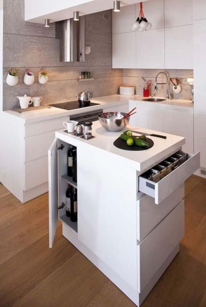 Photo of Small kitchen with island