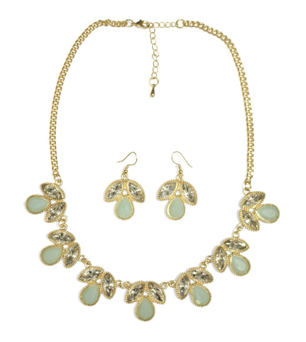 Tea for Two Necklace & Earring Set