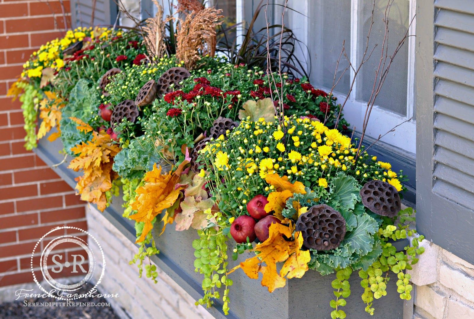 Serendipity Refined Blog Fall Window Box Planter Window
