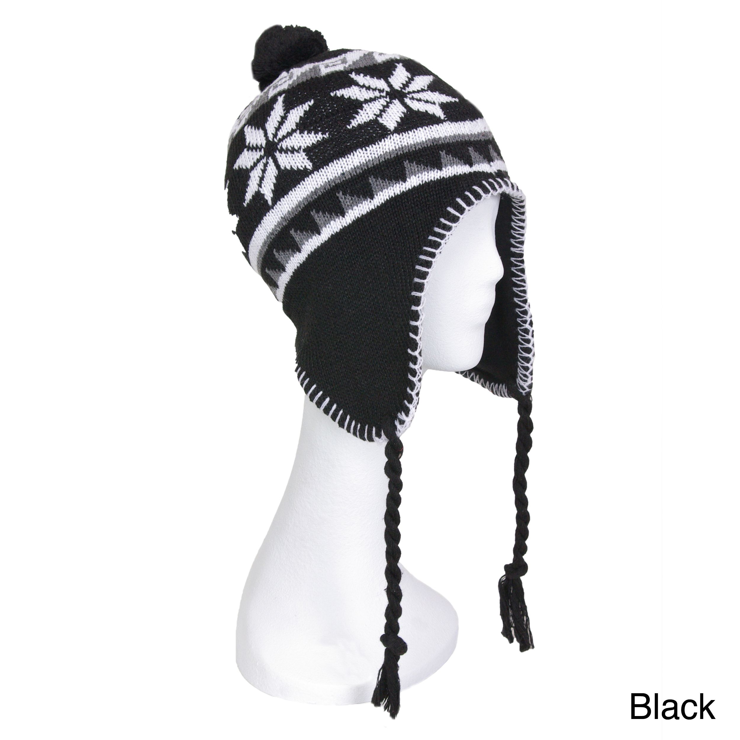 d014ca798ce7f4 This retro snowflake patterned beanie hat is great for all cold weather  activities. Keep warm