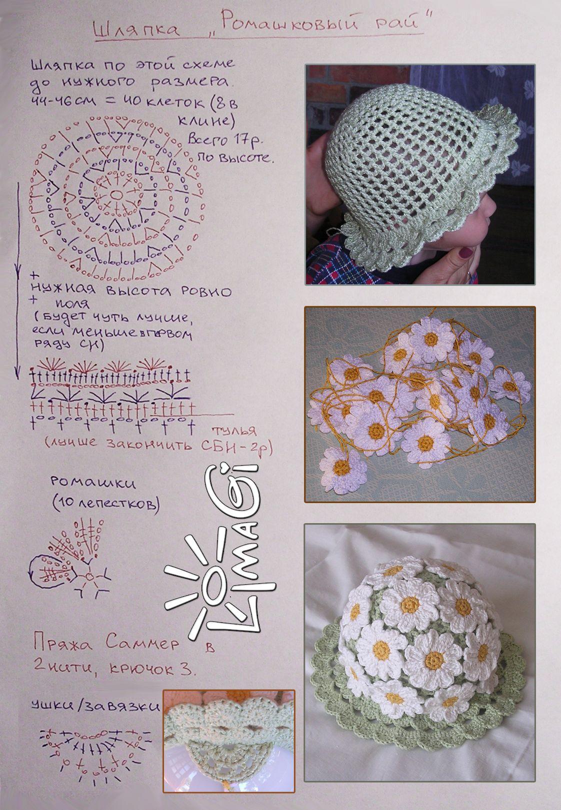 Flower sombreritos with diagram ♥♥♥♥ | crochete hat | Pinterest ...