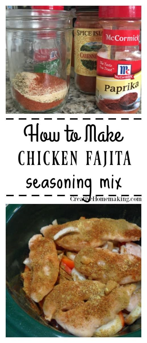 Chicken Fajita Seasoning Mix #homemadefajitaseasoning