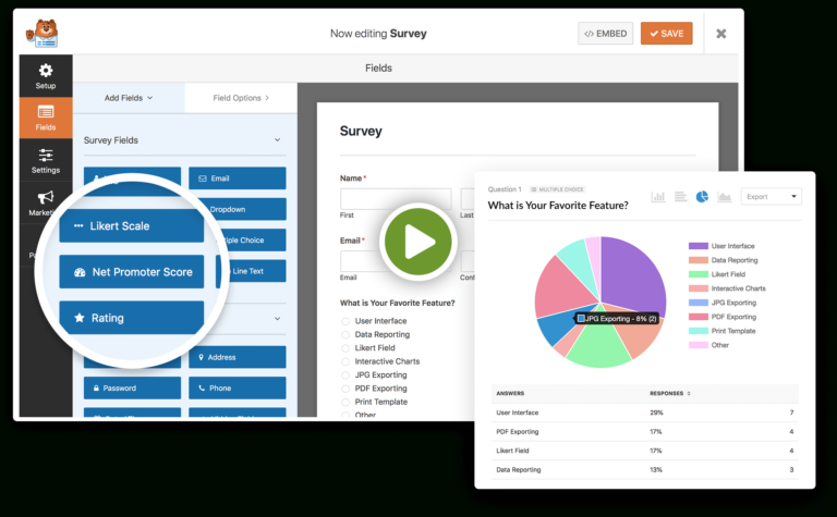 Wordpress Survey Form Plugin Easy Survey Maker