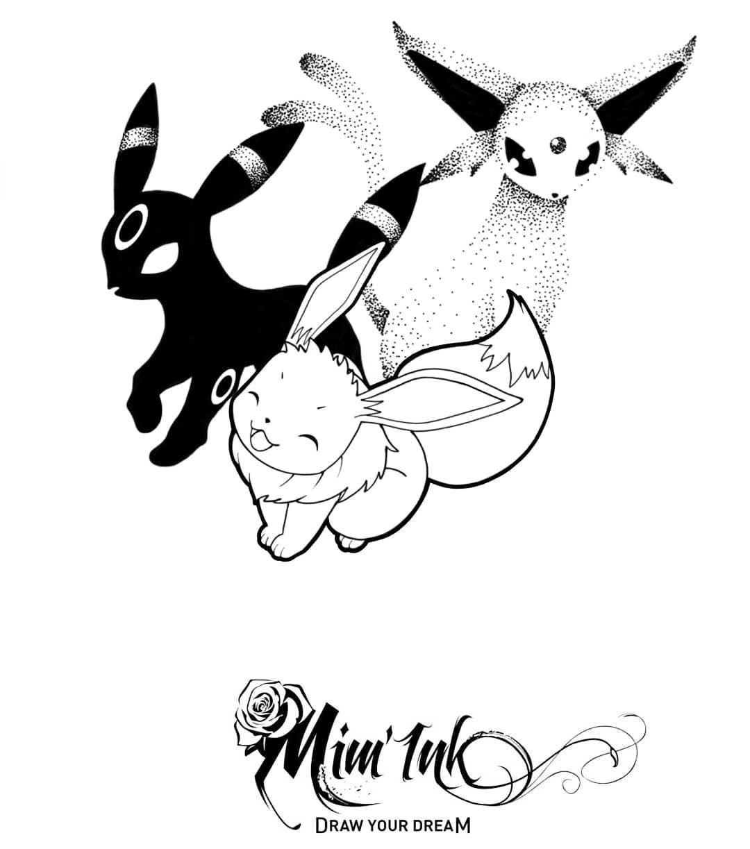 Pokemon Flash Tattoo   Pokemon, Flash tattoo, Umbreon