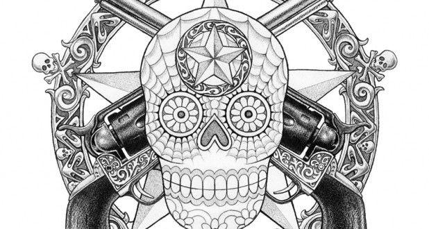 Owl sugar skull coloring page sugar skulls coloring pages