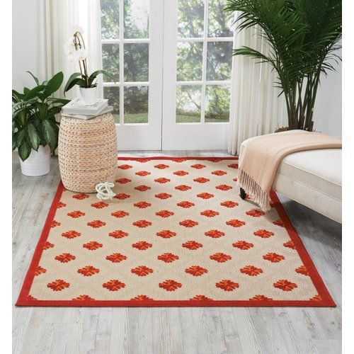 Found it at Wayfair - Gatti Red Indoor/Outdoor Area Rug