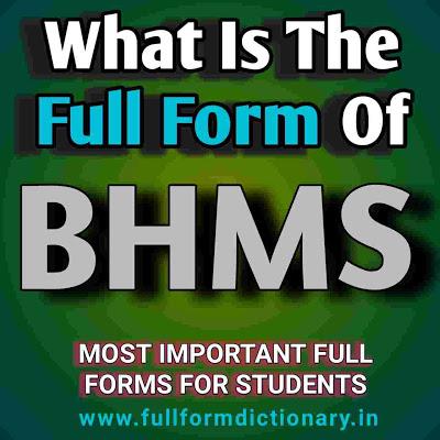 Full Form of BHMS in 2020 Study chemistry, Medicine