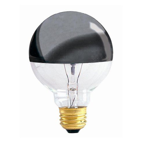 Bulbrite 40g25hm Half Chrome 40w Globe Shape Bulb By