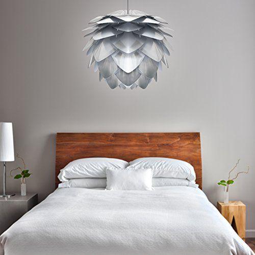 Vita Silvia Steel Pendant Lampshade - 45cm diameter bedroom - schlafzimmer mit amp uuml berbau neu