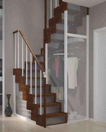 Rampe D Escalier Et Escalier Bois Alu Quart Tournant Escalier Bois Idees Escalier Escalier