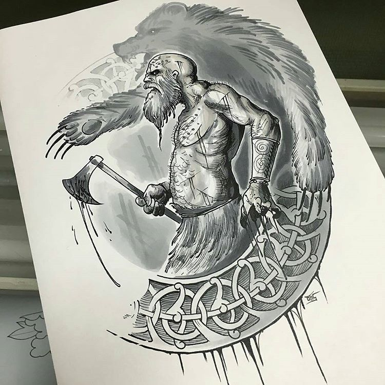 Berserker Norse Tattoo Scandinavian Tattoo Nordic Tattoo