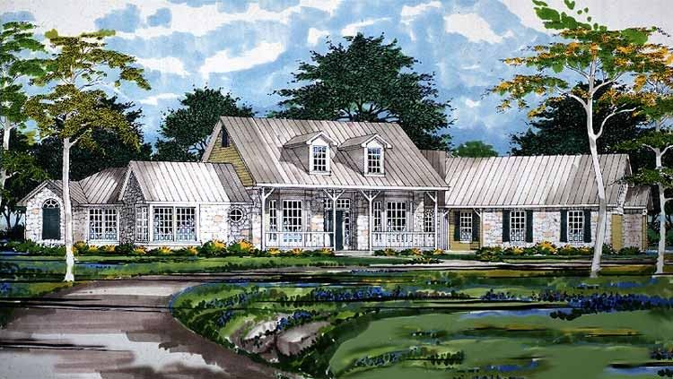 Eplans Country House Plan - Five Bedroom Country - 3152 ...